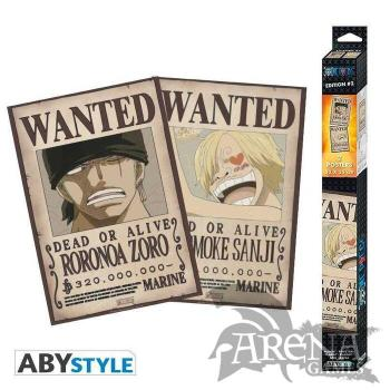 Set 2x Poster 52x38 – One Piece – Wanted Zoro & Sanji