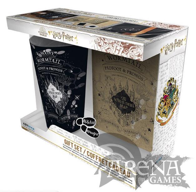 Harry Potter – Caja Regalo – Pack Vaso XXL + Pin + Libro de notas Marauder's Map – Harry Potter