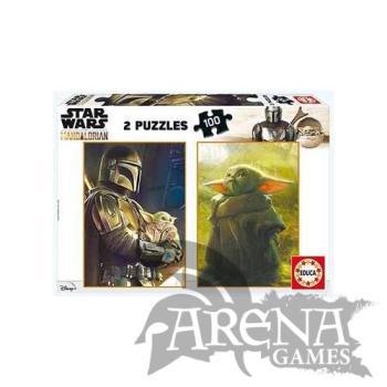 Puzzle Baby Yoda 2x100 piezas - The Mandalorian