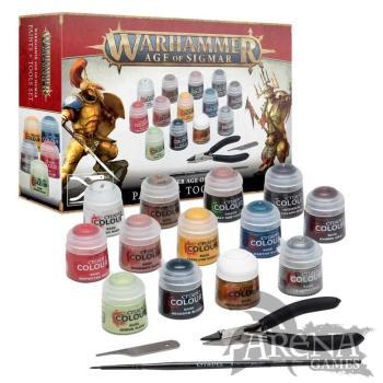 Warhammer Age of Sigmar: Set de pinturas y herramientas | 80-17