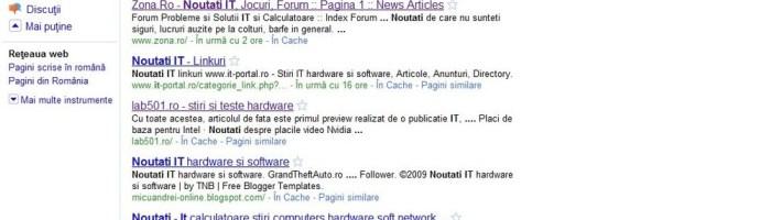 Noul Google si pe .ro