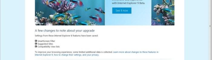 Internet Explorer 9 la primul beta