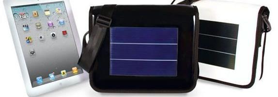 Mini L, geanta cu incarcare solara pentru iPad