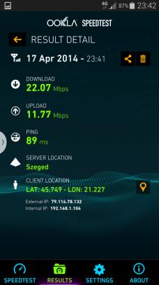 Internet 4G - Samsung Galaxy S5