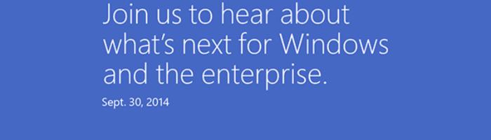 Oficial: evenimentul pentru Windows 9 e pe 30 septembrie