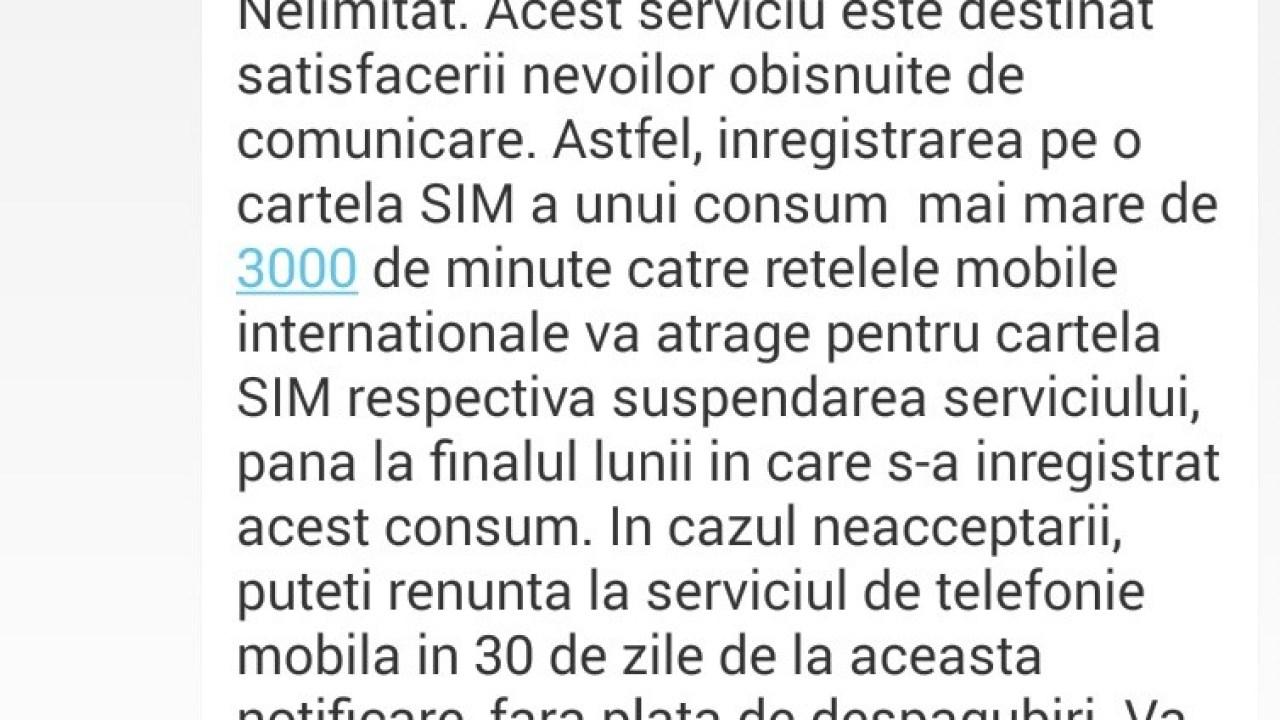 Digi Mobil Optim Nelimitat: limita minutelor internationale