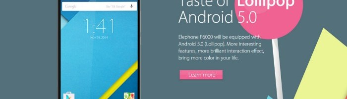 Elephone P6000: 5 inch, 2 GB RAM, 64 bit, Android 5 si 4G