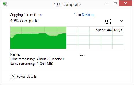 Copiere de pe USB 3.0 prin cablu