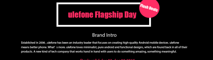 Ulefone Flagship Day la Gearbest