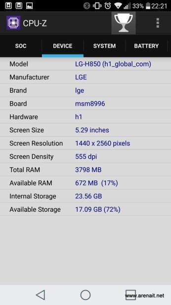 LG G5 - CPU-Z