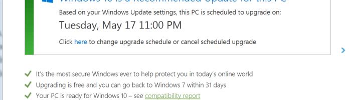 Microsoft iti programeaza instalarea pentru Windows 10