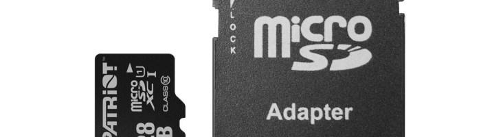 Card microSD 128 GB Patriot la 30$