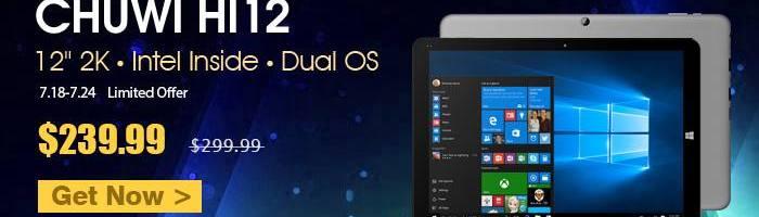 Chuwi Hi12 – tableta cu doua sisteme de operare si hardware bun la 240 de dolari