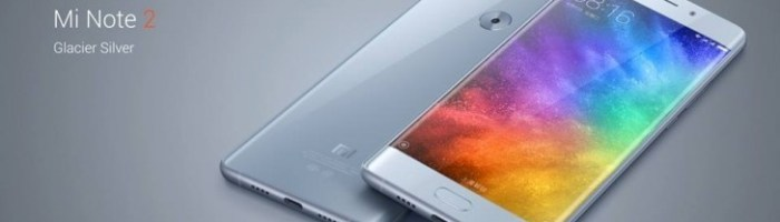 Xiaomi a lansat Mi Note 2 cu ecran curbat