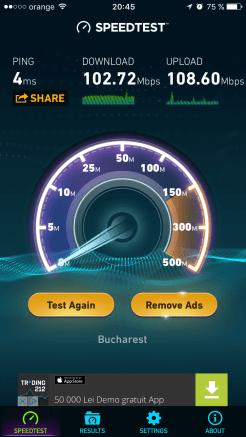 2.4GHz la 10 metri de router