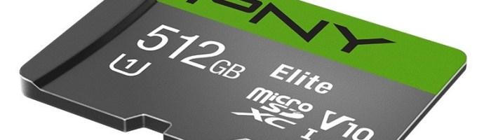 PNY a lansat probabil primul card microSD de 512GB
