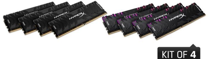 HyperX a lansat noi memorii RAM DDR4 din seria Predator