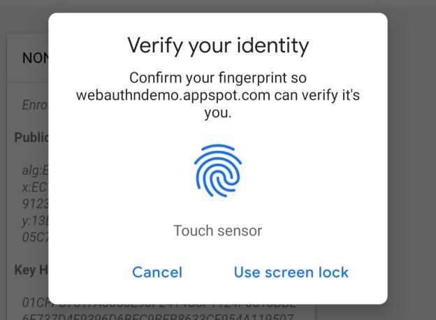 Te poti autentifica cu amprenta direct in browserul Chrome
