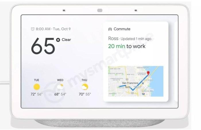 Google Home Hub ar putea fi un display inteligent