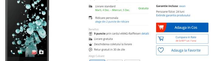 Oferta zilei: HTC U Ultra la doar 919 Lei
