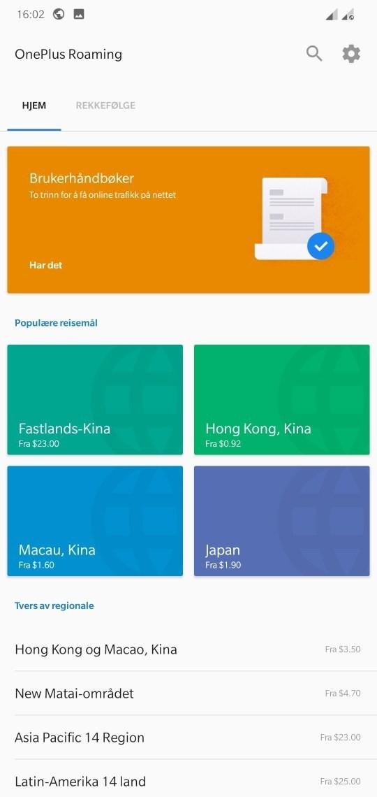 OnePlus Roaming a fost lansat - un eSIM global cu date