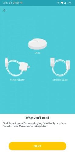 TP-Link Deco M5 2-pack app setare initiala