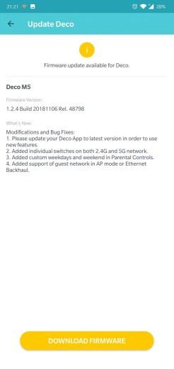 TP-Link Deco M5 2-pack app update2