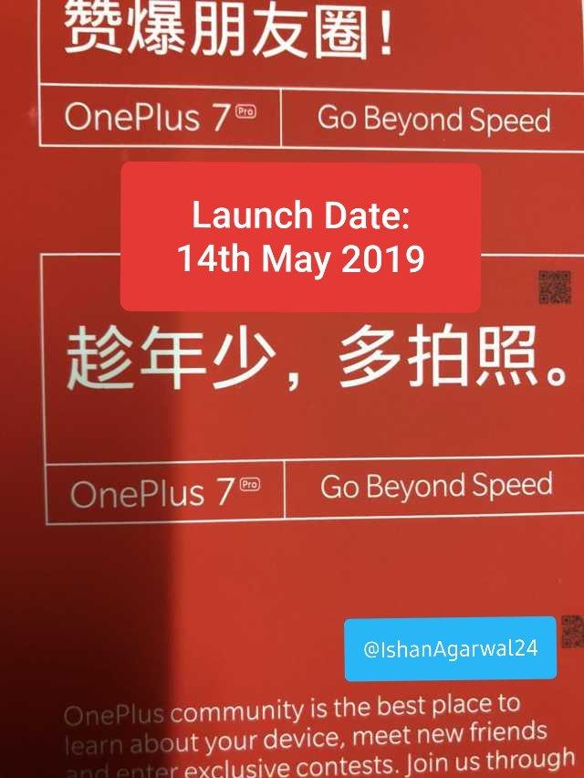 OnePlus 7 se lanseaza pe 14 mai