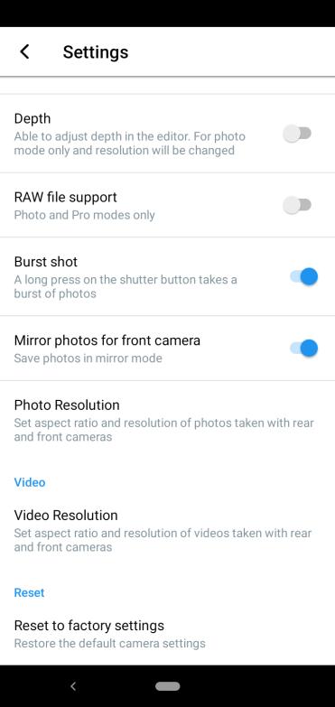 Nokia 4.2 camera settings 2