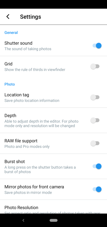 Nokia 4.2 camera settings1