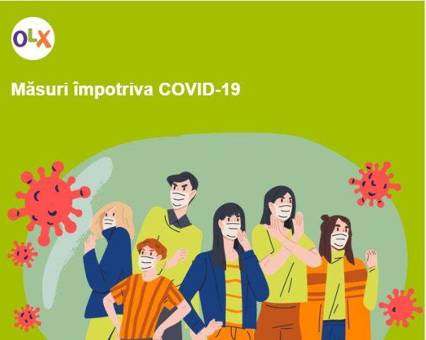 OLX ia masuri impotriva COVID-19
