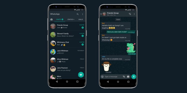 WhatsApp primeste Dark Mode