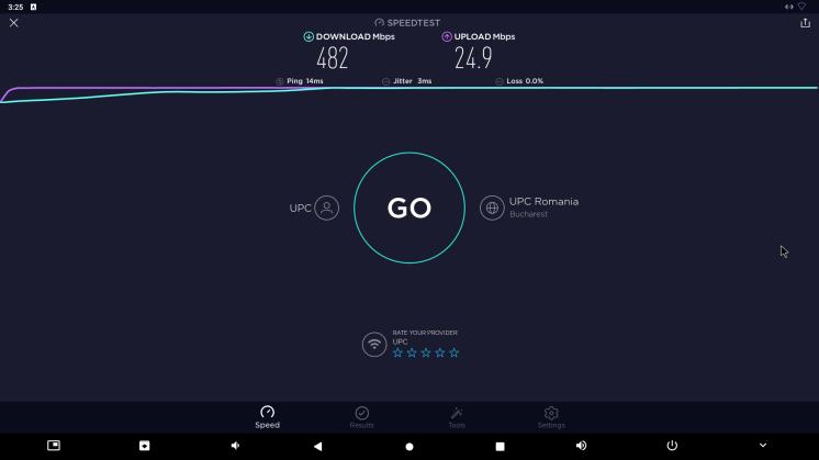 Speedtest prin cablu