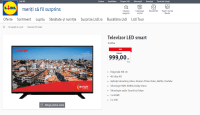 Lidl are in oferta un televizor Smart 4K de 108cm la 999 lei