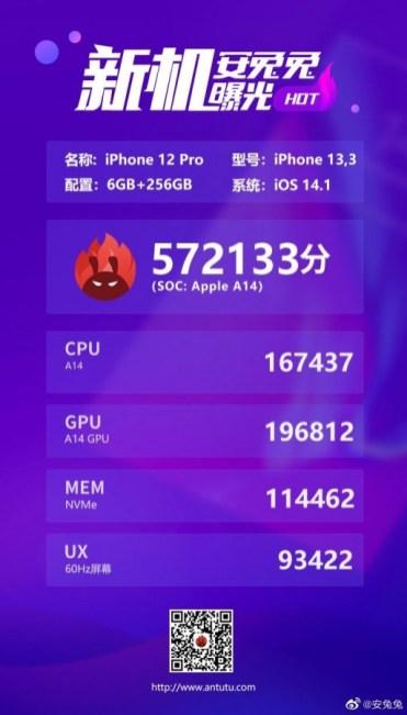 antutu iphone 12 pro