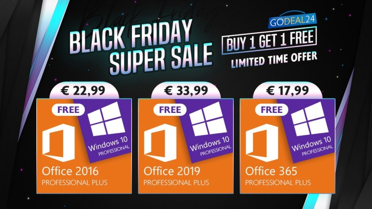 Black Friday la licente de Windows si Office