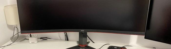 Am testat monitorul AOC CU34G2 cu 100Hz si 34 inch