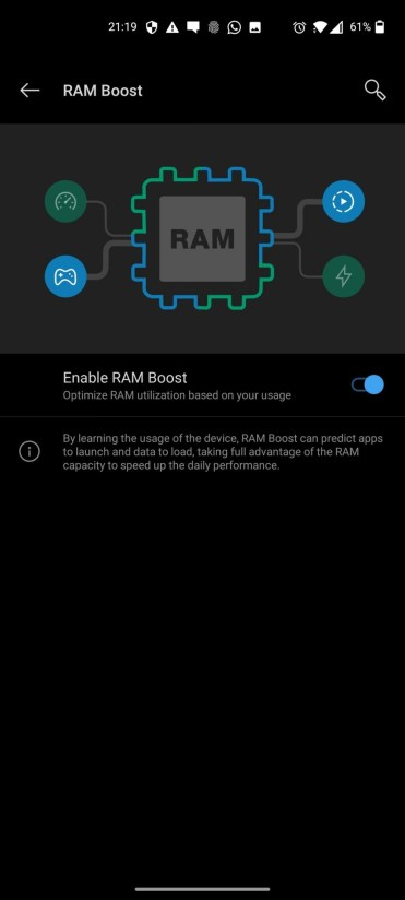 OnePlus Nord_Settings_RAM boost