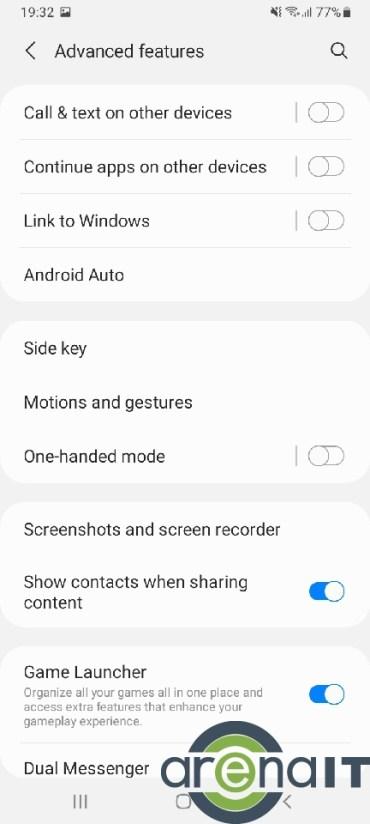 Samsung Galaxy A32 menu (7)