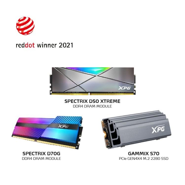 Trei premii Red Dot Design pentru produsele XPG