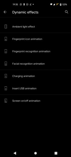 vivo X51 5G (settings dynamic animation)