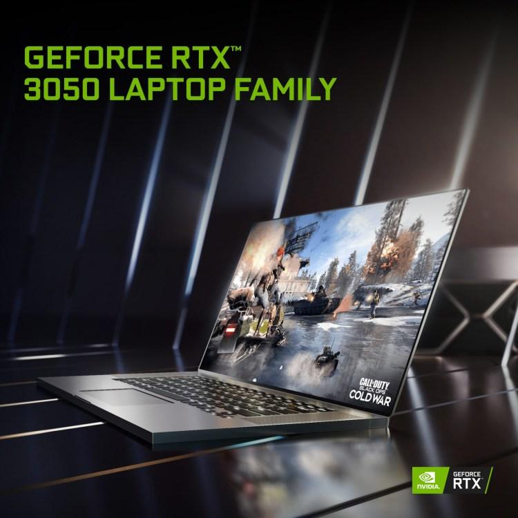 Nvidia anunta laptop-uri noi cu placi video RTX din seria 3000