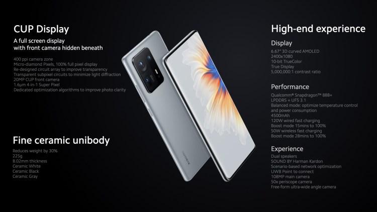 Xiaomi Mi Mix 4 vine cu Snapdragon 888+ și cameră frontală integrată sub display