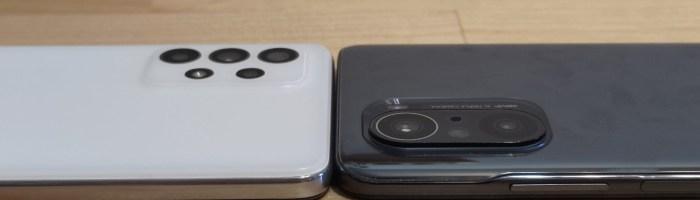 Samsung Galaxy A52 5G versus Poco F3