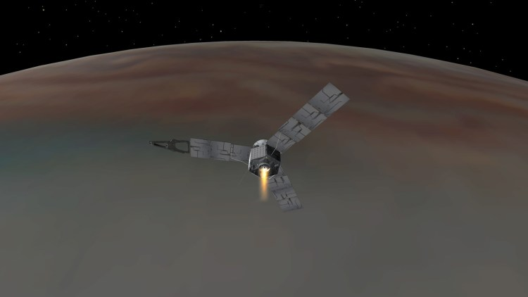Poate o sondă spațială să reziste unui zbor printr-o planetă gazoasă?