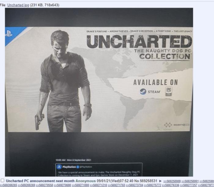 Seria Uncharted ar putea fi lansata pe PC