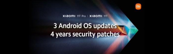 Xiaomi 11T si 11T Pro vor primi 3 ani de actualizari majore de OS