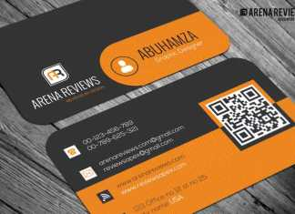 Orange & Black Pattern Business Card