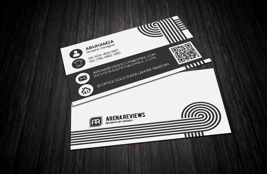Clean Black White Creative Business Card Template Download Free