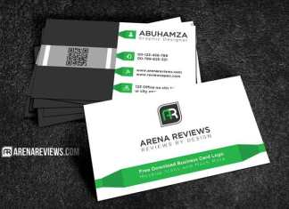 Modern White and Green Corporate Business Card Template